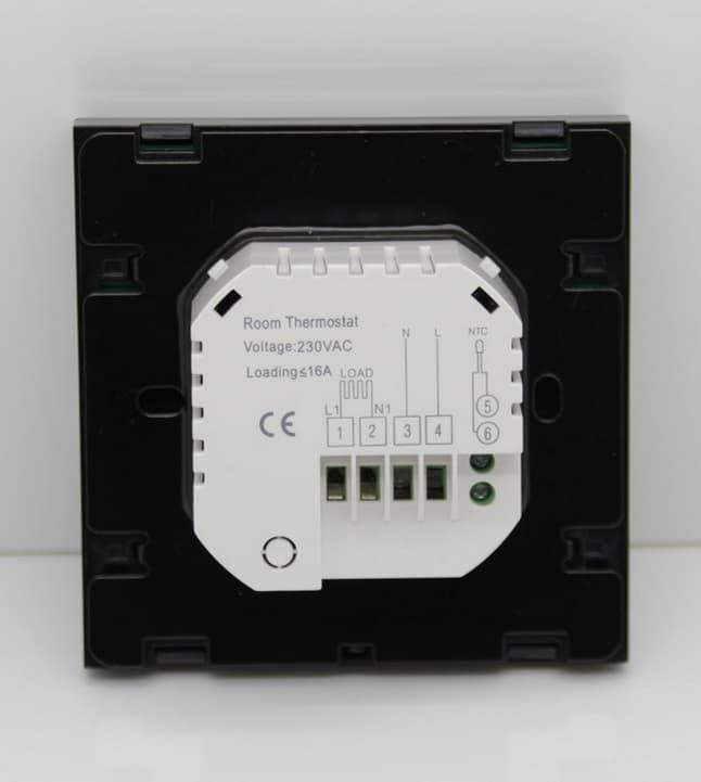 TGT 70-EP Padlófűtés termosztát kapcsolási rajz nézet