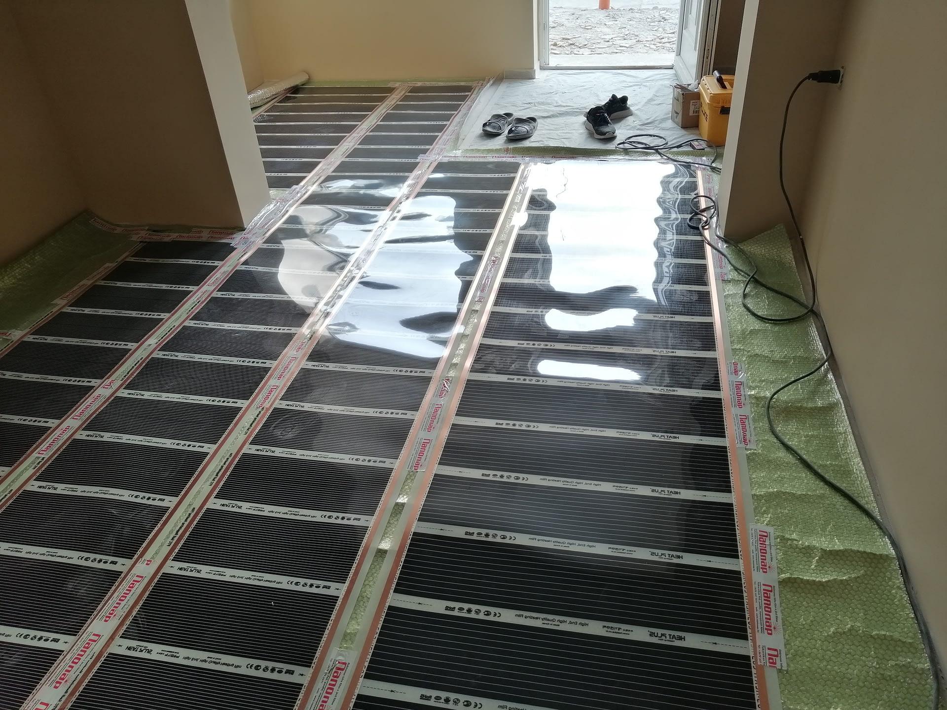 Infra padlófűtés rendszer szerelése (3)