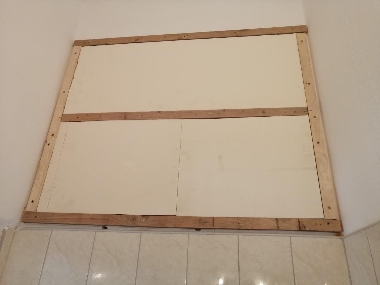 Infrapanel építése oldalfalra fűtőfóliával (4)