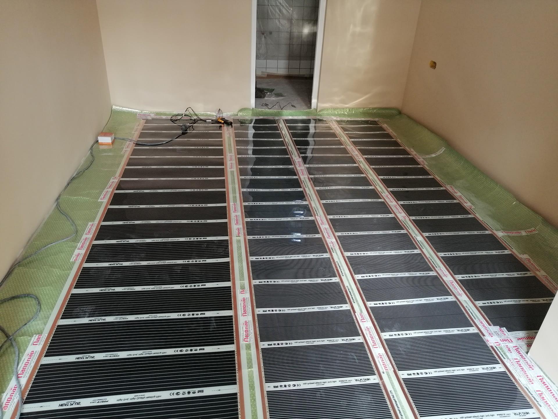 Infra padlófűtés rendszer szerelése (2)