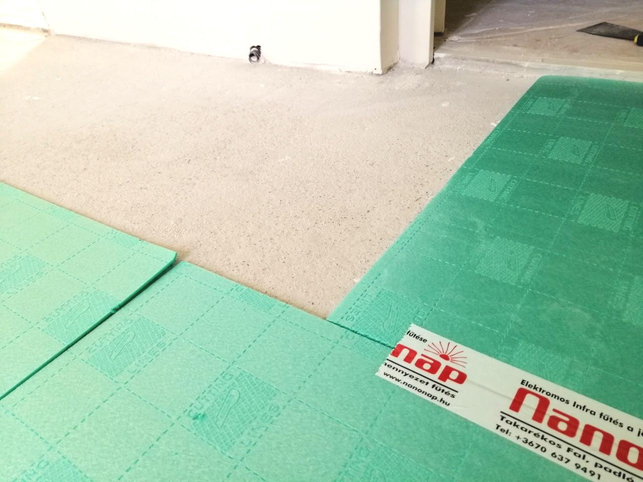 Infra padlófűtés rendszer szerelése (10)