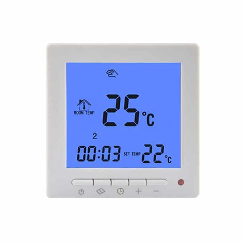 HY02B07 Elektromos padlófűtés termosztát