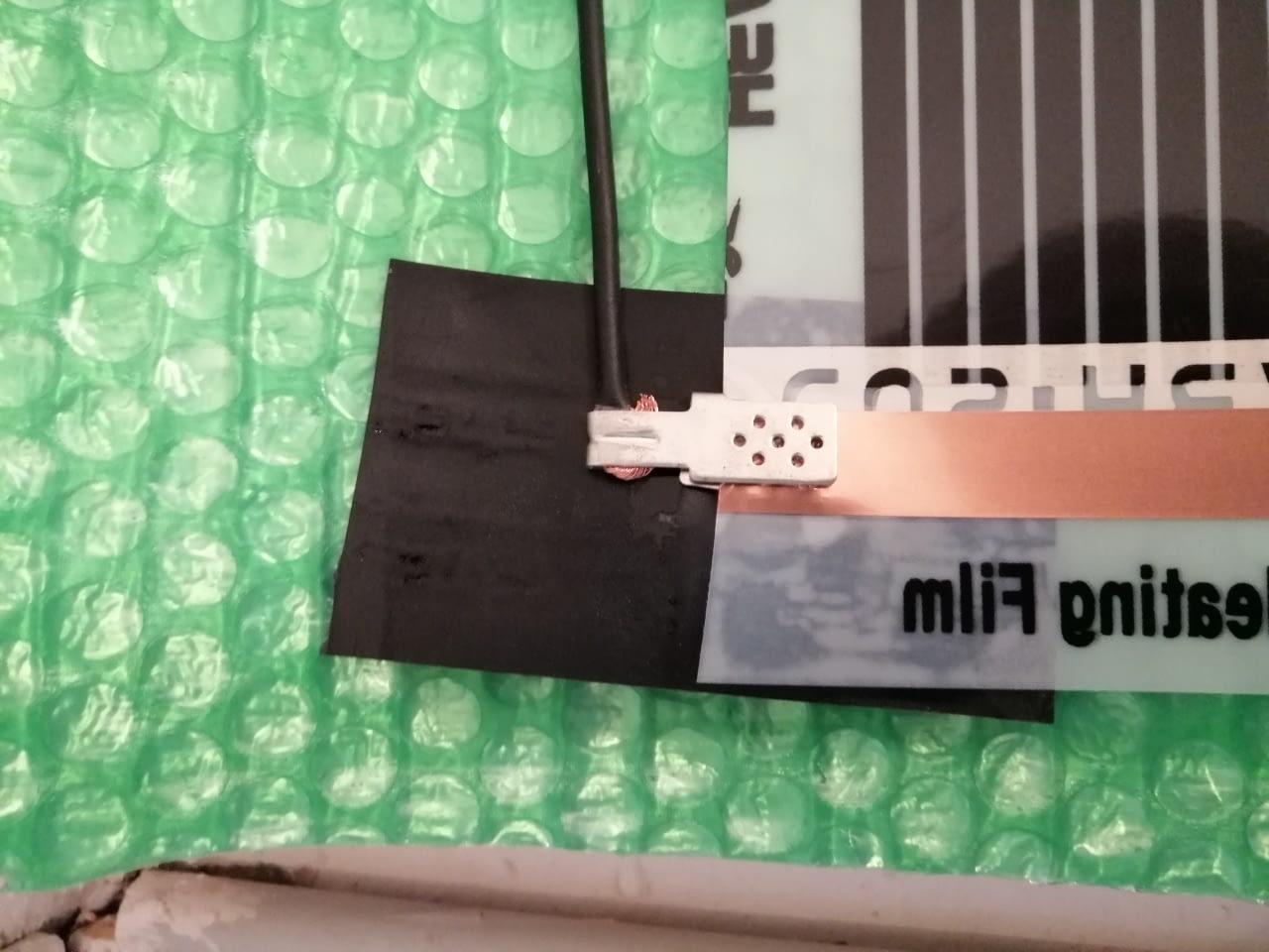Infrapanel építése oldalfalra fűtőfóliával (8)