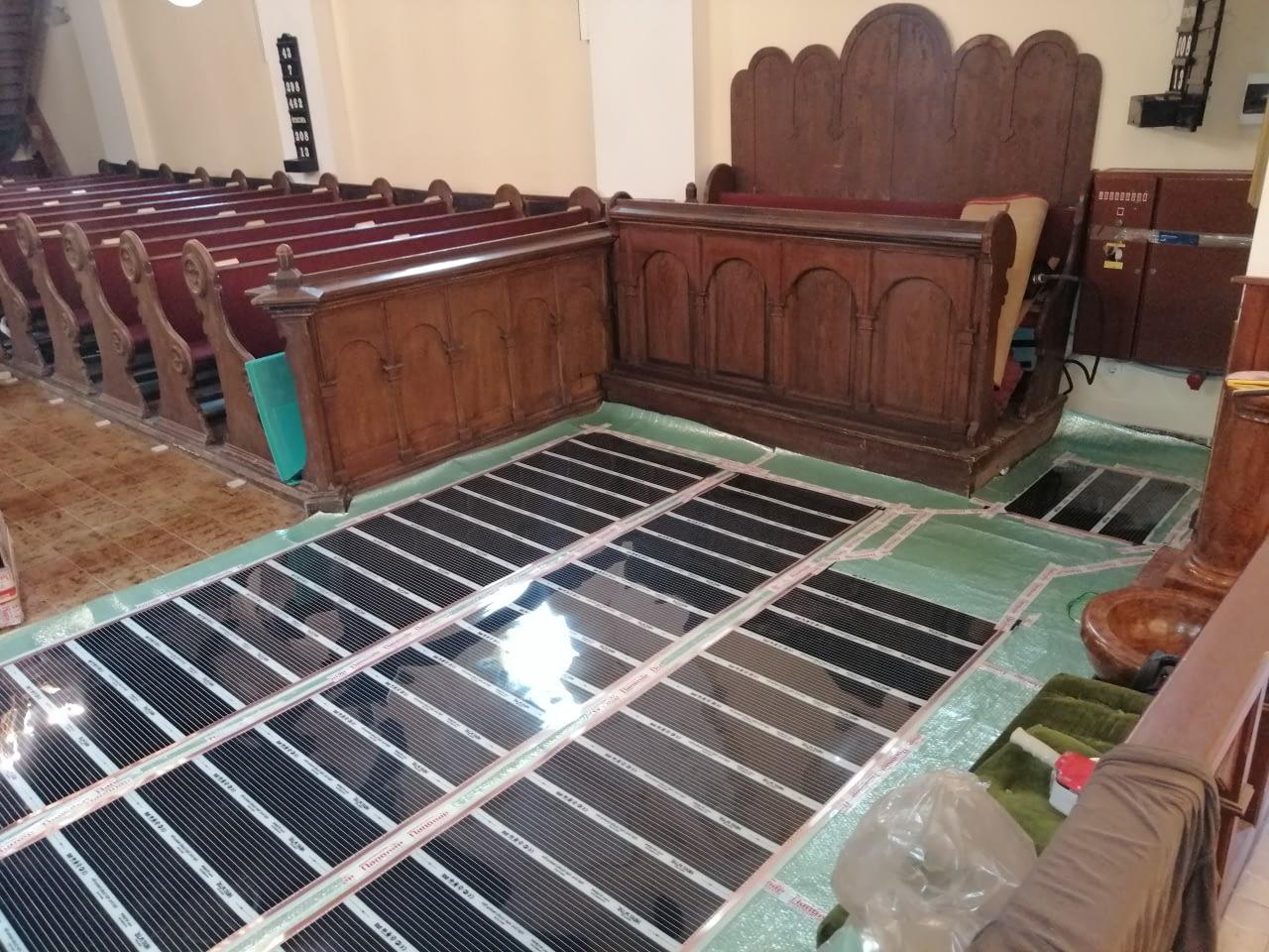 Infra padlófűtés korszerűsítés Evangélikus egyház Szeged (11)