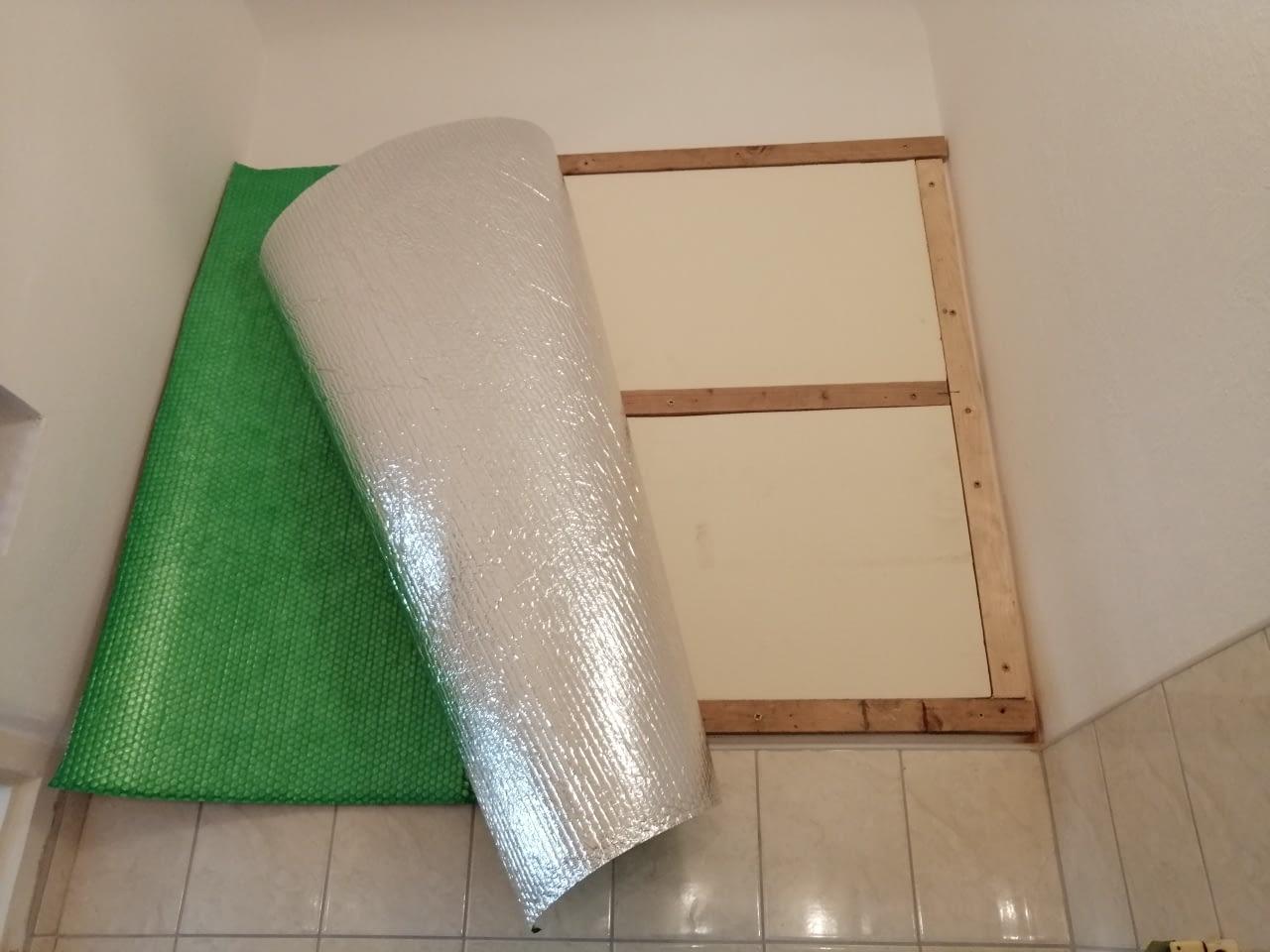 Infrapanel építése oldalfalra fűtőfóliával (5)