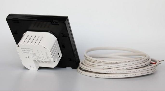 TGT 70-EP Padlófűtés termosztát hátsó nézet