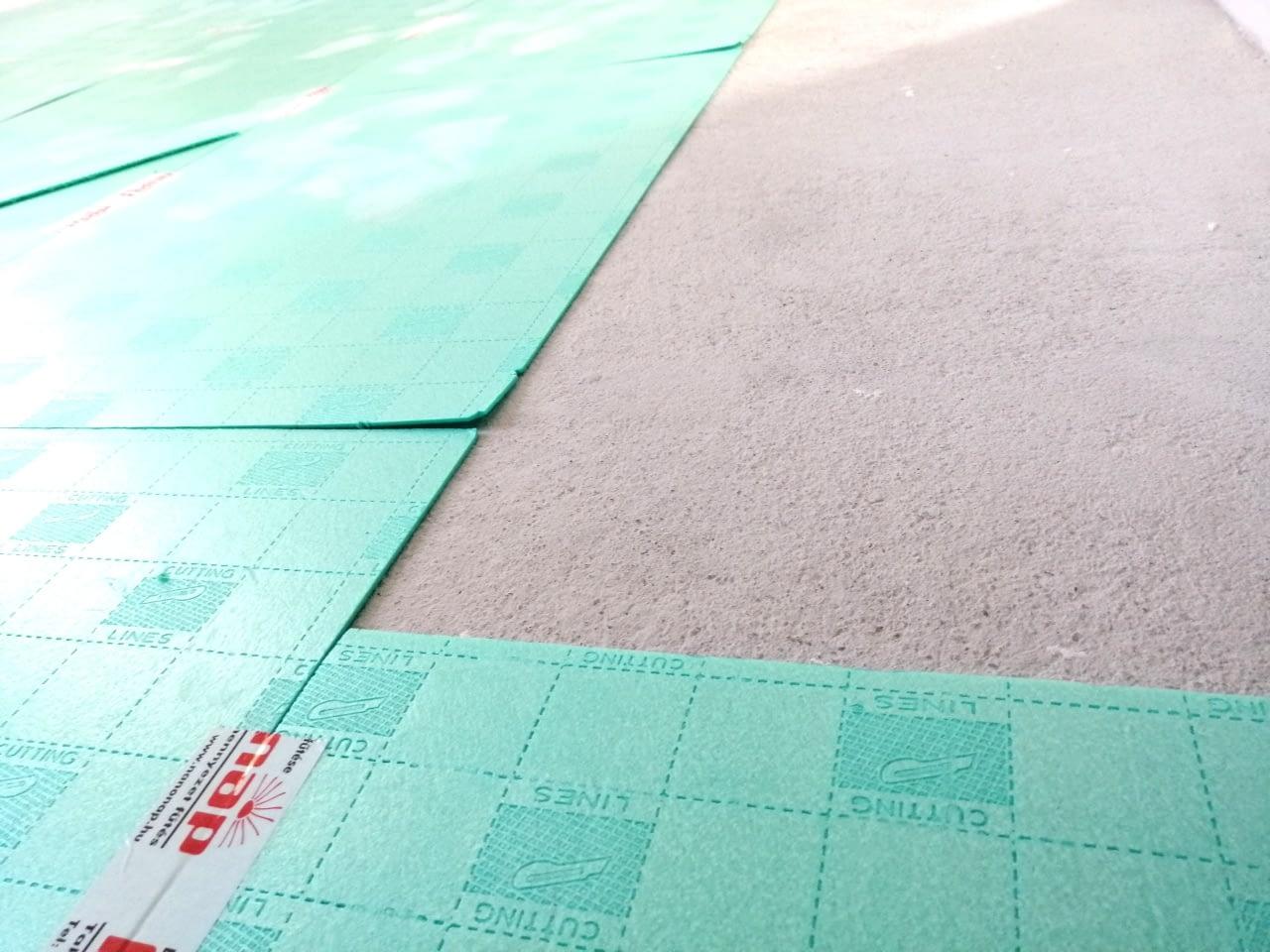 Infra padlófűtés rendszer szerelése (11)