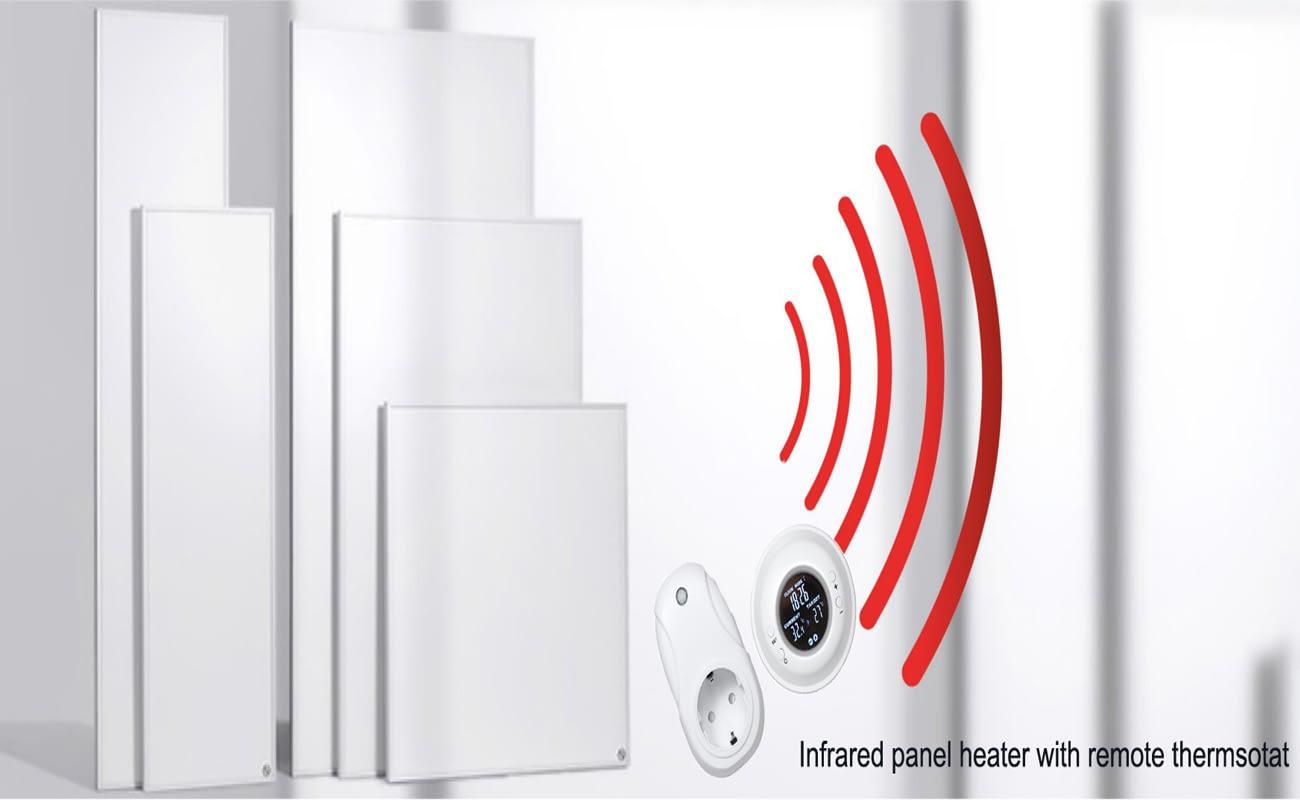 Fehér Infrapanel távirányíthatós termosztáttal