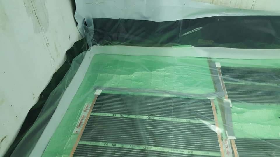 Infra fűtőfólia telepítése esztrich beton alá (11)